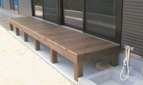 木製デッキ施工イメージ