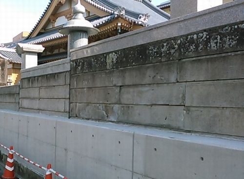福寿塀2型施工イメージ