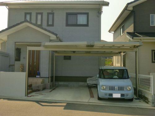 Uスタイル 梁置き フラット屋根施工イメージ