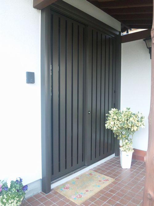 玄関引戸 リシェント施工イメージ